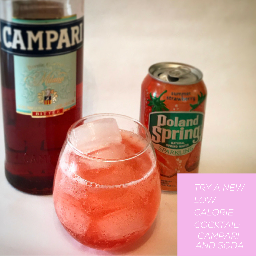 Camapri and soda is a great Italian classic that will leave you feeling refreshed without being hungover. This low calorie and low alcohol cocktail is great for mamas who want to have a drink but don't want to overindulge.