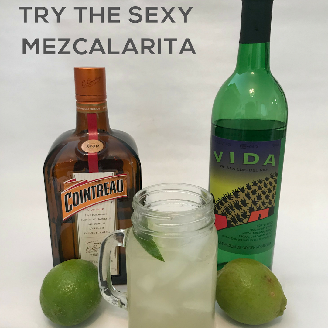 Mezcalarita,is a delicious mezcal cocktail that is like a smoky margarita.