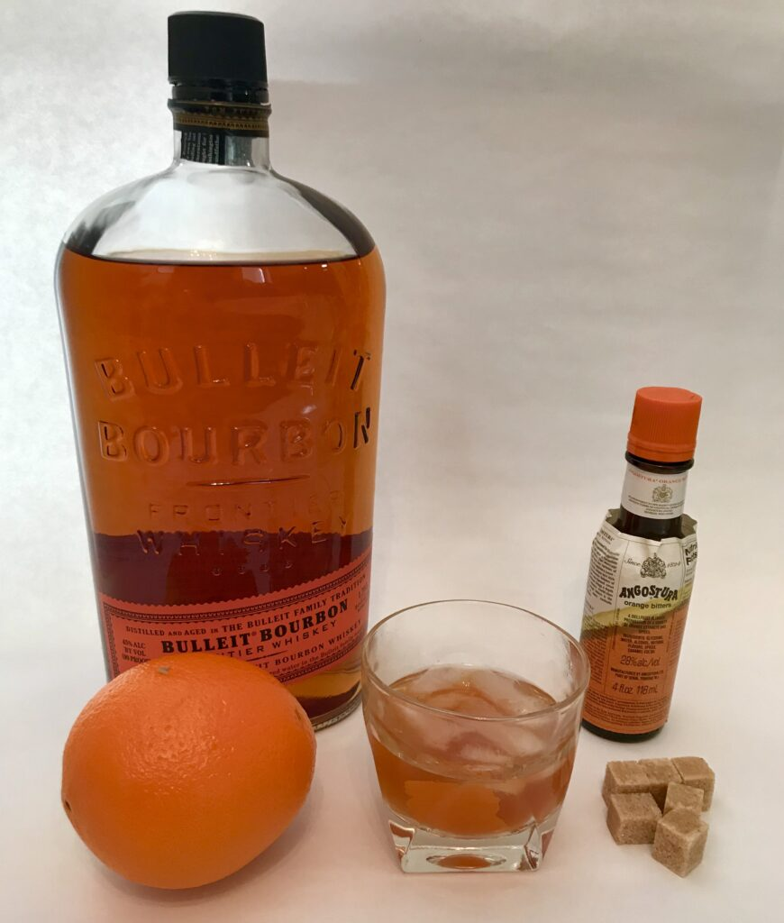 Classic Old Fashioned With A Twist using Angostora orange bitters.