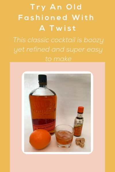 Classic Old Fashioned With A Twist using angostura orange bitters is a boozy easy to make and delicious cocktail