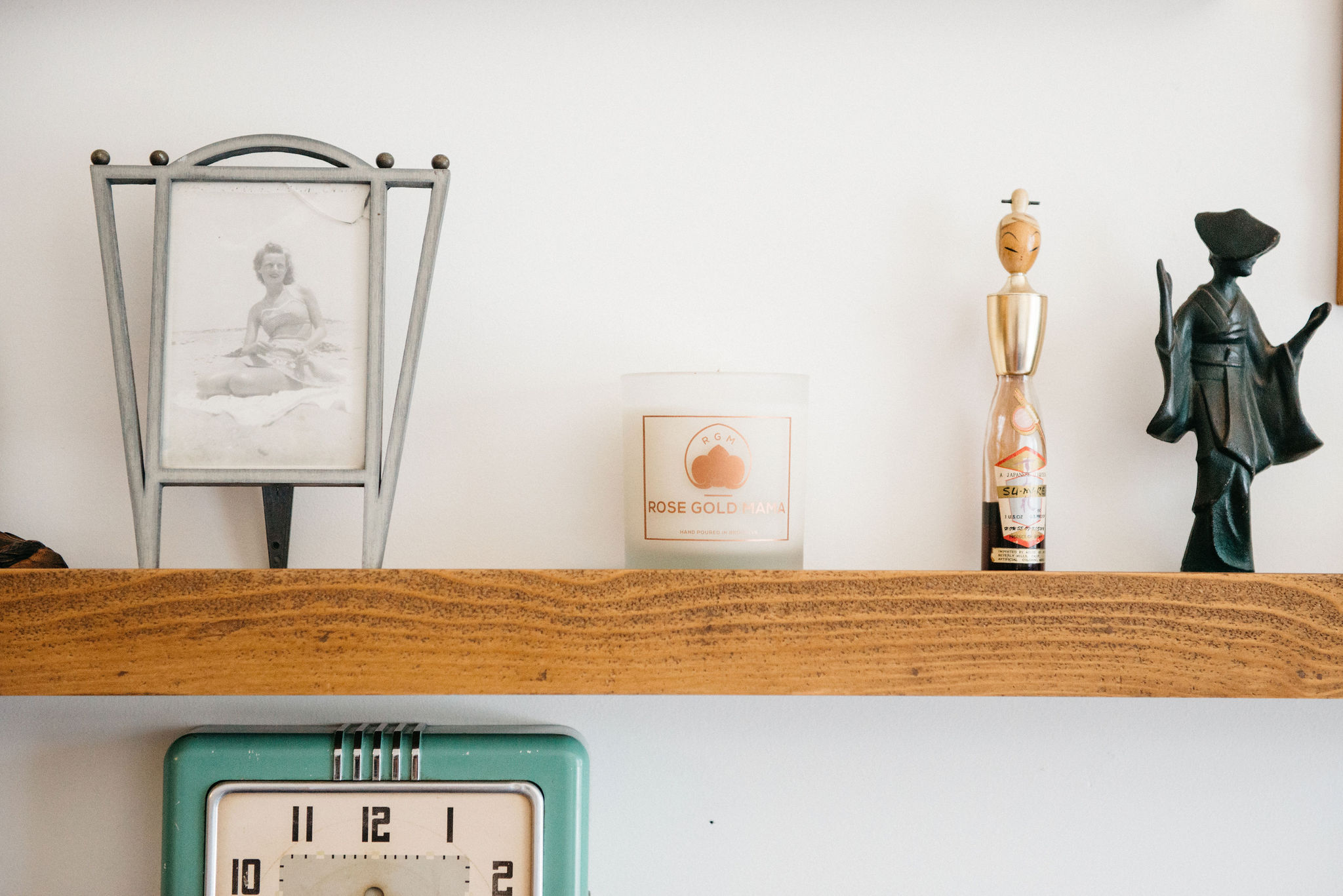 Rose Gold Mama Classic Candle On A Shelf