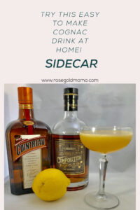 The classic Sidecar cocktail is so delicious you won't believe how easy it is to make. It's a citrus cocktail made with cognac and Gran Marnier that is sure to knock your socks off. If you are normally a bourbon drinker and enjoy an old fashioned this is a great alternative.