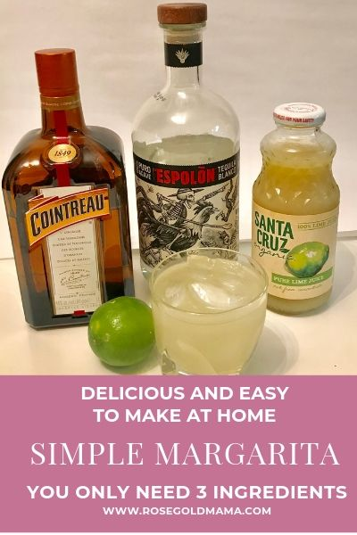 This is the best margarita recipe ever! It's also a very simple margarita to make. You only need 3 ingredients. Download the free printable recipe card.