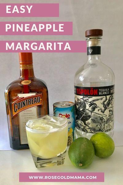 Pineapple Margarita Recipe | Rose Gold Mama