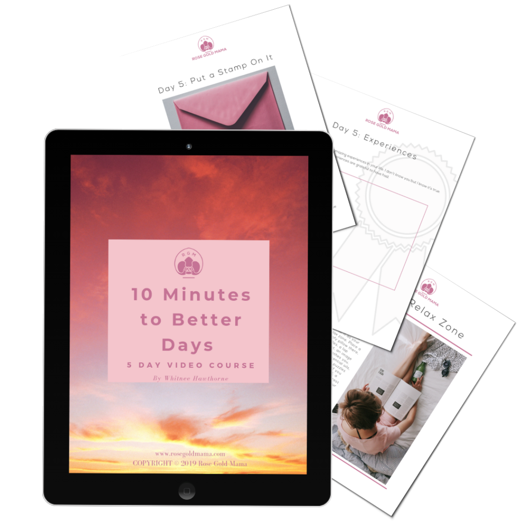 10 Minutes To Better Mornings Workbook