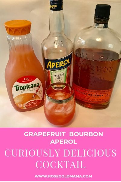 Grapefruit Cocktail with Bourbon and Aperol | Rose Gold Mama