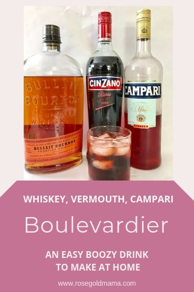 How to make a boulvevardier cocktail | Rose Gold Mama